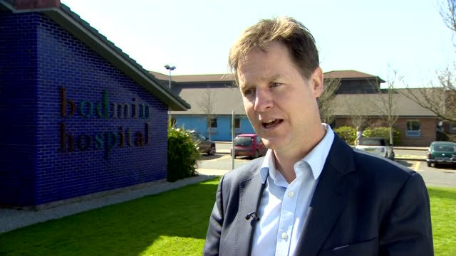 lib dems nick clegg interview on trident and fallon comments england cornwall bodmin ext nick clegg interview on trident nasty language between... - trident stock videos & royalty-free footage