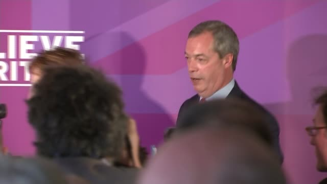 liberal democrats and ukip manifestos launched thurrock nigel farage and suzanne evans along from ukip manifesto launch - thurrock stock videos and b-roll footage