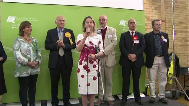 liberal democrats suffer heavy losses in london england london int returning officer reading out results at twickenham declaration sot tania mathias... - vince neil stock videos and b-roll footage