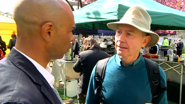 list of political donors to be published day people standing on stage at husting event at farmer's market people along past market stalls bags of... - makeshift stock videos and b-roll footage