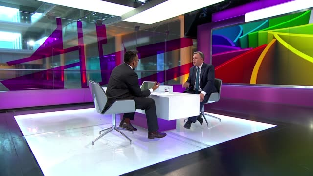 Low growth figures / impact on General Election ENGLAND London GIR INT Ed Balls STUDIO interview SOT as far as I was concerned it was ' c**t ' and...