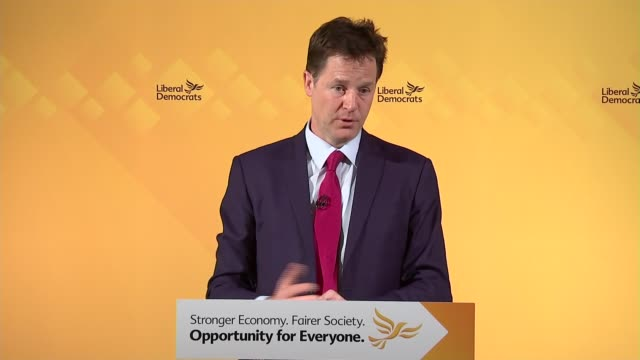 nick clegg and david laws press conference clegg answering questions sot [includes comment on conservative party chairman grant shapps and... - grant shapps stock videos and b-roll footage