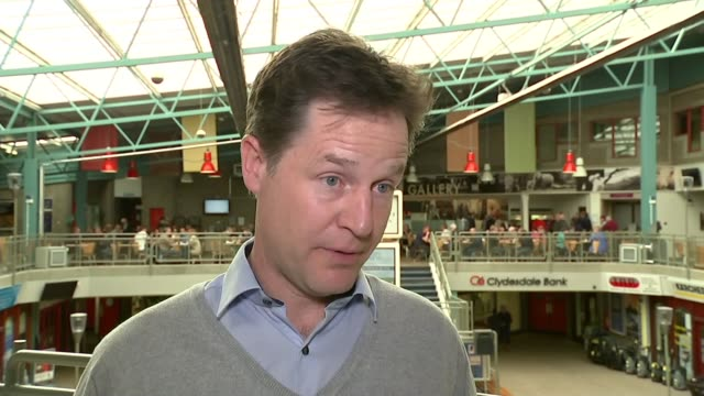 nick clegg interview scotland ayrshire gordon int nick clegg interview sot re lib dem vote in scotland alex salmond seems to regard the gordon... - ニック クレッグ点の映像素材/bロール