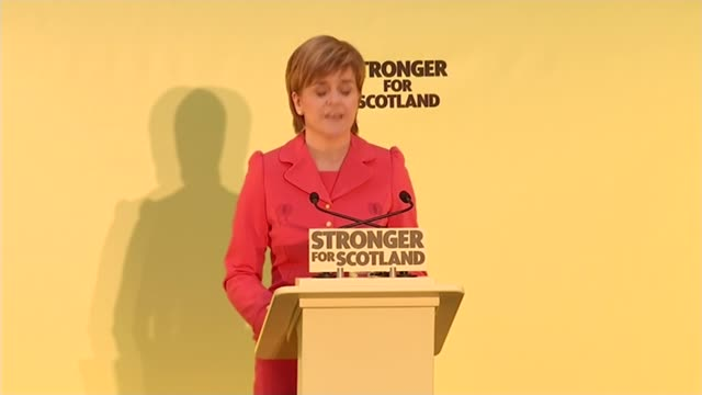 nicola sturgeon launches snp manifesto nicola sturgeon speech sot it's my promise to you is this if the snp emerges from this election in a position... - 全部点の映像素材/bロール