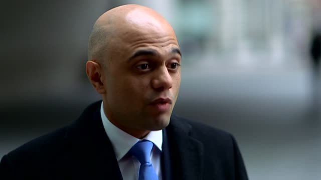 nicola sturgeon leaked memo row london sajid javid interview sot - itv weekend lunchtime news点の映像素材/bロール