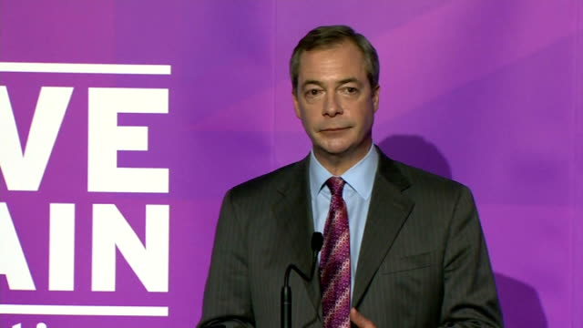 Nigel Farage speech to launch UKIP campaign ENGLAND Essex Canvey Island PHOTOGRAPHY** Councillor Jamie Huntman introduction SOT Nigel Farage MEP...