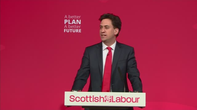 politicians campaign around the country miliband speech in glasgow ed miliband speech sot thank you john and let's pay tribute to kez dugdale for the... - world's strongest man stock videos and b-roll footage