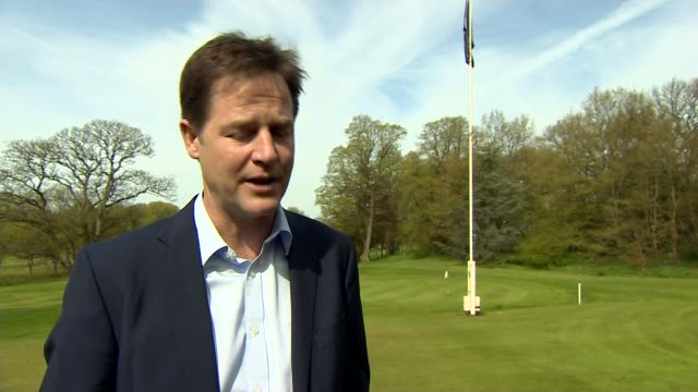 possible postelection deals / child benefit row manchester nick clegg interview sot the question remains not whether david cameron or ed miliband can... - anchored stock videos & royalty-free footage