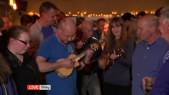 report from the Yorkshire Dales Ukelele orchestra plays C4N theme tune SOT