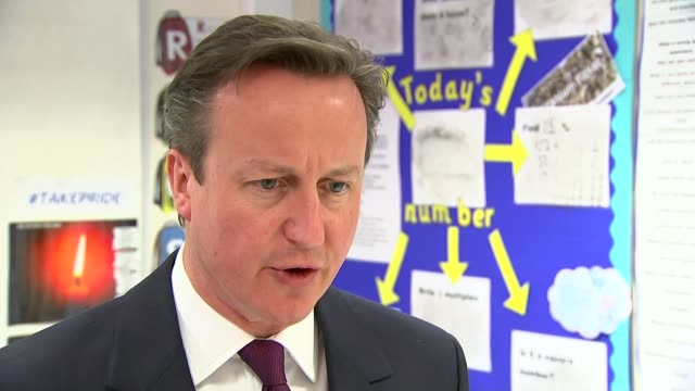 general election 2015: row over labour's plan to scrap 'non-dom' tax status; david cameron interview sot - what we've seen from labour this morning... - チッペナム点の映像素材/bロール