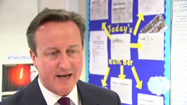 Row over Labour's plan to scrap 'nondom' tax status Cameron interview ENGLAND Lancashire Westhoughton near Bolton Sacred Heart Roman Catholic Primary...