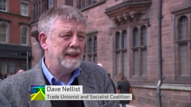Trade Unionist and Socialist Coalition Dave Nellist interview ENGLAND EXT Dave Nellist Trade Unionist and Socialist Coalition interview SOT ten...