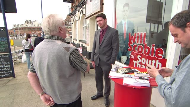 ukip call for british constitution to be amended craig mackinlay interview sot will scobie outside 'labour' shopfront scobie chatting to people... - eaten stock videos & royalty-free footage