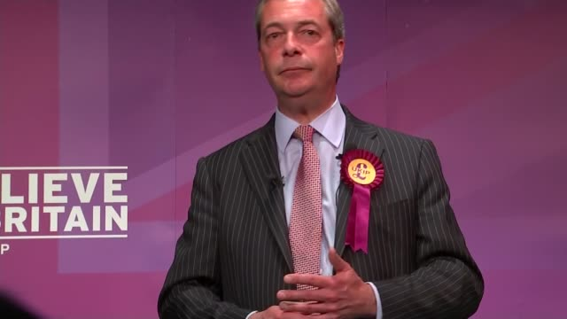 general election 2015: ukip: nigel farage speech; farage speech sot - ukip vote is rock solid, a lot of people out there who are shy ukippers, who... - rock the vote stock-videos und b-roll-filmmaterial