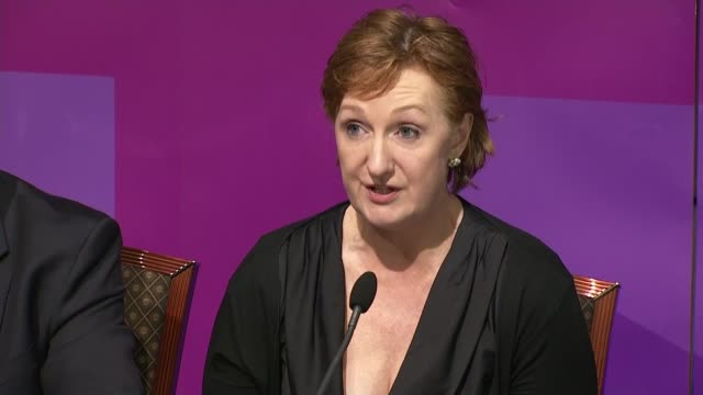 ukip press conference qa session with suzanne evans diane james and patrick o'flynn continued sot - diane james politik stock-videos und b-roll-filmmaterial
