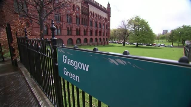 general election 2015: view from scotland; scotland: glasgow: glasgow green: ext general views of ornate templeton building black/ west brewery: int... - ornate stock videos & royalty-free footage