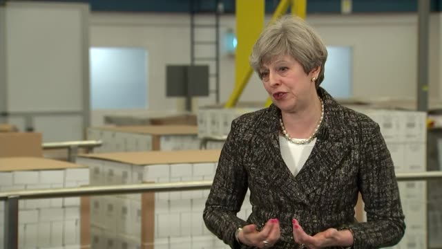 vidéos et rushes de general election 2017: conservatives: pm, theresa may speech at gsk in maidenhead; theresa may mp q&a session sot - prime minister