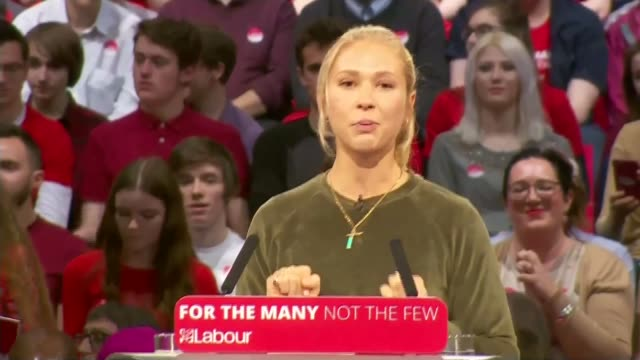 corbyn campaigns in birmingham / trident reassurance england birmingham int people attending labour party general election rally actor maddy hill... - trident stock videos & royalty-free footage