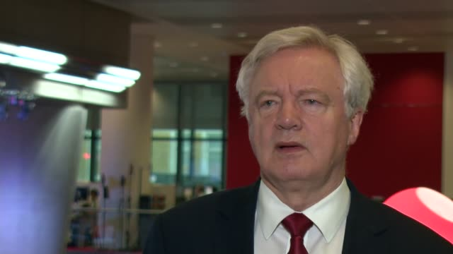 David Davis interview on Brexit ENGLAND London INT David Davis interview SOT On getting a good Brexit deal / Theresa May's clarification on social...