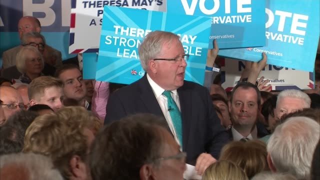 final day of campaigning conservatives may mcloughlin and johnson speeches england west midlands birmingham int jeremy hunt liz truss and other... - patrick mcloughlin stock videos and b-roll footage