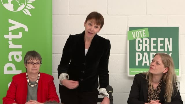green party caroline lucas speech interview england east sussex brighton int caroline lucas press conference sot - east sussex stock videos & royalty-free footage