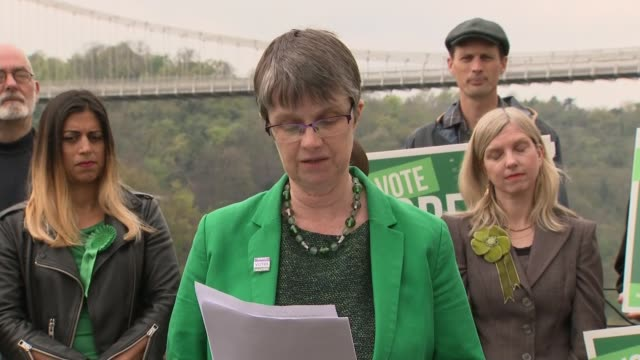 green party manifesto launch in bristol england bristol ext carla denyer jonathan bartley molly scott cato and caroline lucas mp at green party... - green party stock videos and b-roll footage