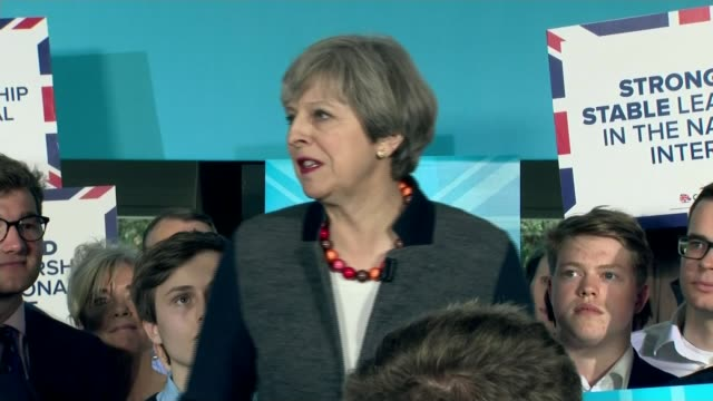 general election 2017: hung parliament: analysis of theresa may's campaign; lib / 25.7.2016 northern ireland: belfast: stormont: theresa may mp press... - strength stock videos & royalty-free footage