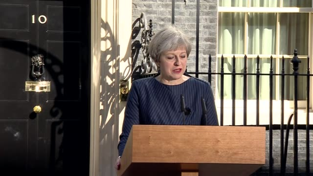 Hung parliament Analysis of Theresa May's campaign LIB / 1842017 Downing Street Theresa May MP statement announcing calling of general election SOT I...