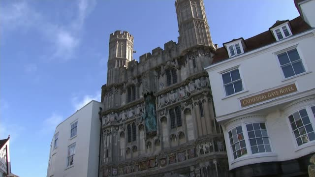 Hung parliament increase in young voters ENGLAND Kent Canterbury EXT GVs Canterbury Cathedral Canterbury Cathedral on Canterbury skyline