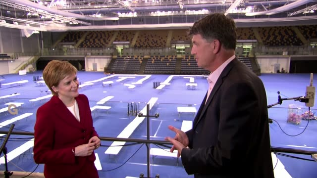 general election 2017: hung parliament: scotland results; edinburgh: int nicola sturgeon msp interview sot - member of the scottish parliament stock videos & royalty-free footage