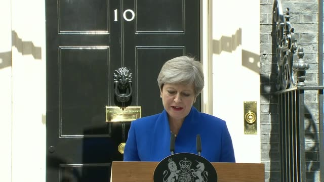 hung parliament theresa may to form new government england london downing street ext theresa may mp and husband philip may out of car high angle view... - hanging stock videos & royalty-free footage