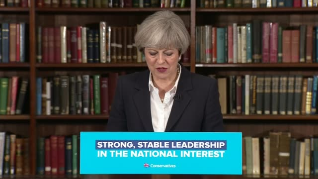 jeremy corbyn calls for theresa may to resign over police cuts whitehall int theresa may speech sot if ever there was a time for prime minister ready... - general election stock videos & royalty-free footage