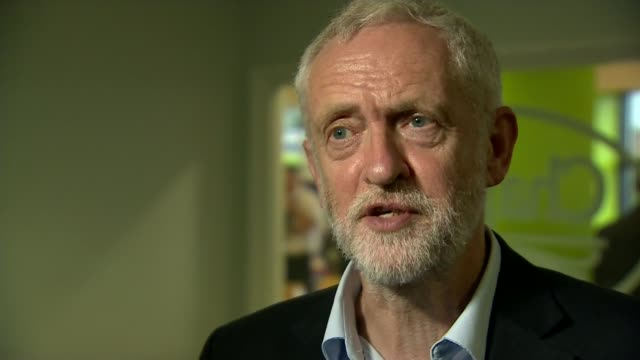 jeremy corbyn calls for theresa may to resign over police cuts location unknown int jeremy corbyn interview sot talks of backing calls for the... - cut video transition stock videos & royalty-free footage