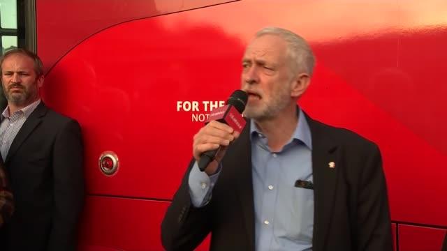 jeremy corbyn in sheffield jeremy corbyn speech sot - sheffield stock videos and b-roll footage