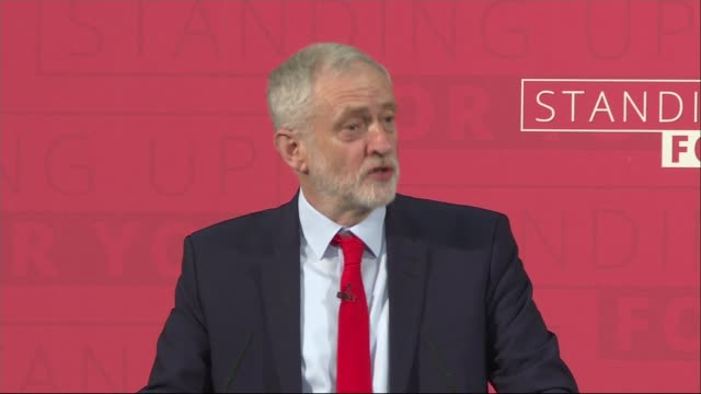 jeremy corbyn launches labour's campaign general election 2017 jeremy corbyn launches labour's campaign england london photography** man introducing... - politics and government stock videos & royalty-free footage