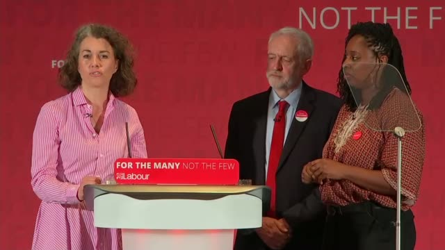 Jeremy Corbyn launches race and faith manifesto ENGLAND Hertfordshire Watford INT Dawn Butler introduction SOT Jeremy Corbyn question and answer...