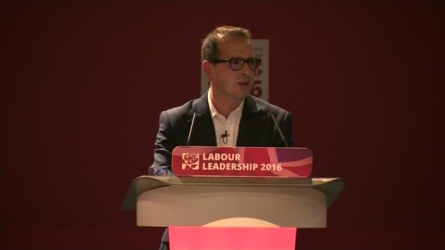Jeremy Corbyn profile LIB / 1182016 ENGLAND Gateshead Owen Smith speaking at hustings event SOT