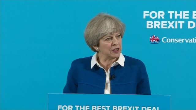 vídeos y material grabado en eventos de stock de general election 2017: jeremy corbyn struggles over cost of childcare policy in interview; wolverhampton: int theresa may speech sot - last night... - jeremy paxman