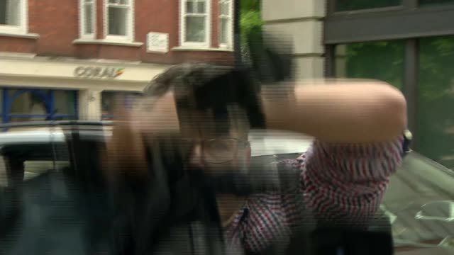 general election 2017: jermy corbyn arrives at bbc wogan house; england: london: ext jeremy corbyn from car, signing autographs and into bbc wogan... - autographing stock videos & royalty-free footage