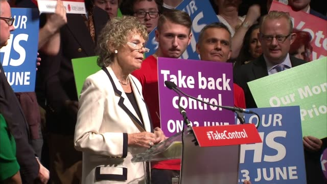 liberal democrats target brexit supporter kate hoey in vauxhall lib / 1962016 old billingsgate market int kate hoey mp at podium at vote leave rally... - 2016 european union referendum stock videos and b-roll footage