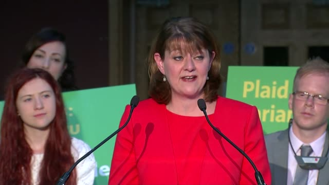 plaid cymru unveil manifesto leanne wood am speech sot - plaid stock videos and b-roll footage