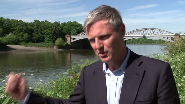 Richmond general views and campaigning Zac Goldsmith interview SOT
