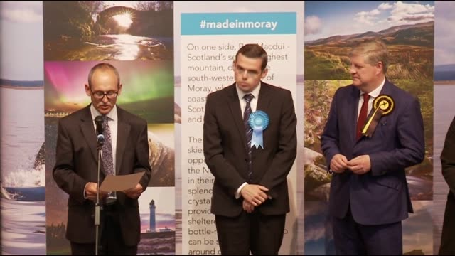 Scotland results Moray declaration Angus Robertson loses seat SCOTLAND Moray INT Declaration for Moray constituency Conservative Douglas Ross...
