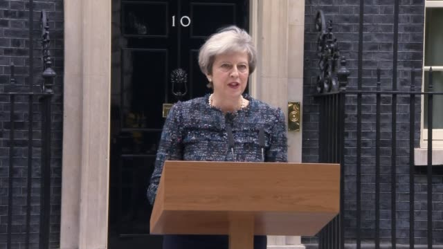 theresa may accuses eu of trying to influence election general election 2017 theresa may accuses eu of trying to influence election downing street... - number 8 stock videos & royalty-free footage