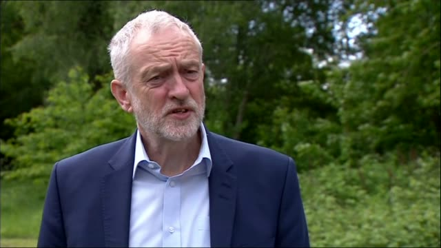 Theresa May pledges to reduce net migration to the tens of thousands Worcester University of Worcester Jeremy Corbyn arriving in room and meeting...