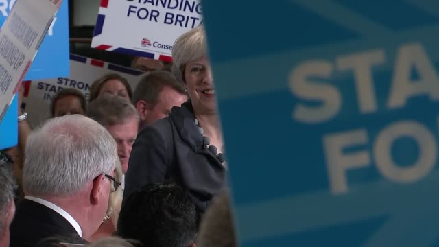 theresa may speech in derby patrick mcloughlin amanda solloway and theresa may arrival and speech cutaways - patrick mcloughlin stock videos and b-roll footage