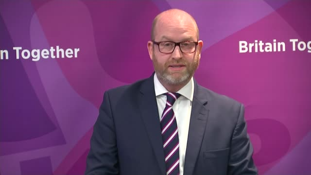 ukip launches manifesto england london int various of ukip leader paul nuttall mep arriving for the launch of the ukip general election manifesto and... - laura kuenssberg stock-videos und b-roll-filmmaterial