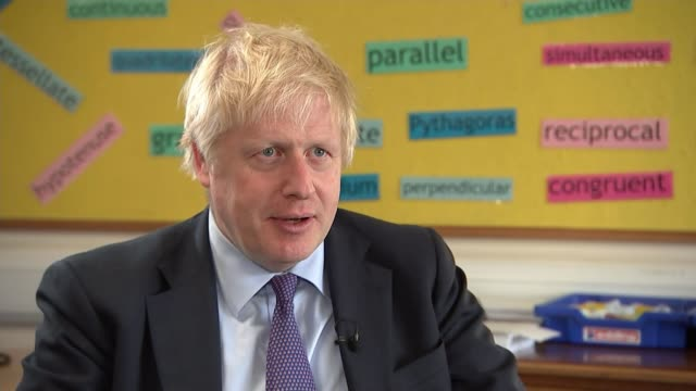 general election 2019: boris johnson announces plans to boost ofsted powers; england: devon: chulmleigh community college: int boris johnson... - social grace stock videos & royalty-free footage