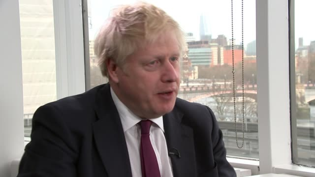 general election 2019: boris johnson interviewed by itv news london; england: london: int boris johnson interview sot - [on violent crime in london]... - itv news at one stock videos & royalty-free footage