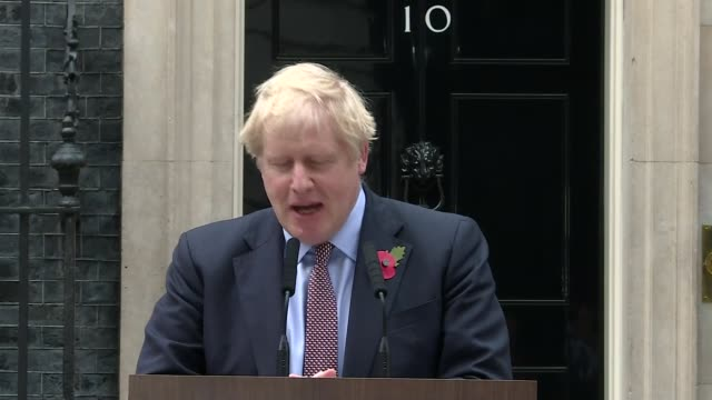 boris johnson launches conservative party campaign / alun cairns resigns england london downing street ext boris johnson departing number 10 boris... - fear stock videos & royalty-free footage